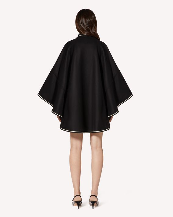 REDValentino Wool cape with contrasts