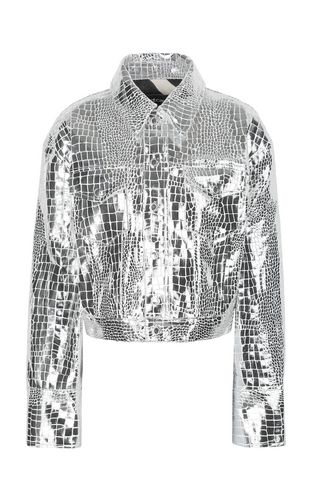 Crocodile-skin-effect jacket