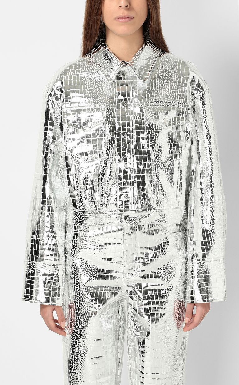 JUST CAVALLI Crocodile-skin-effect jacket Jacket Woman r