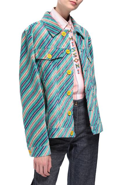 M MISSONI Jacket Turquoise Woman - Front