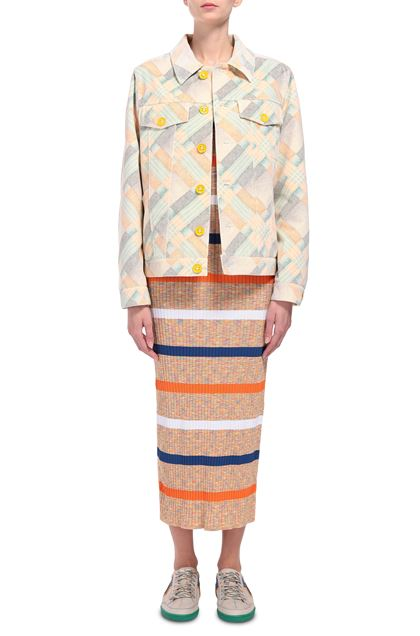 M MISSONI Jacket Light yellow Woman - Back