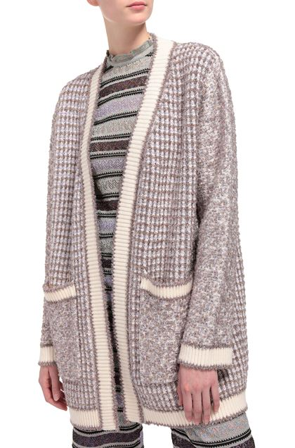 M MISSONI Coat Ivory Woman - Front