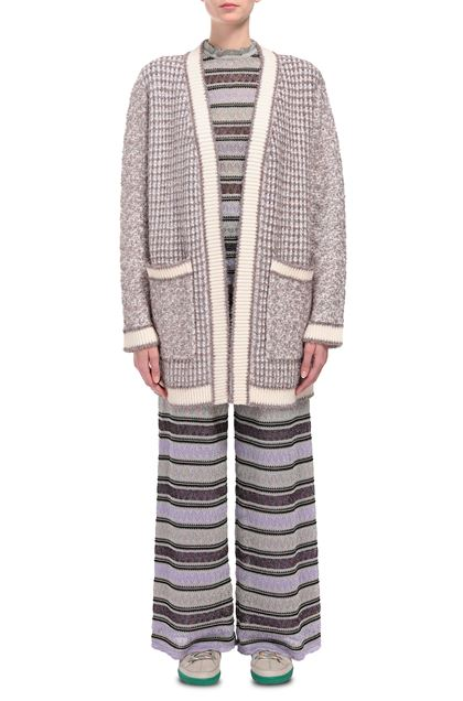 M MISSONI Coat Ivory Woman - Back