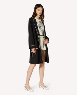REDValentino Wool felt coat with contrast details