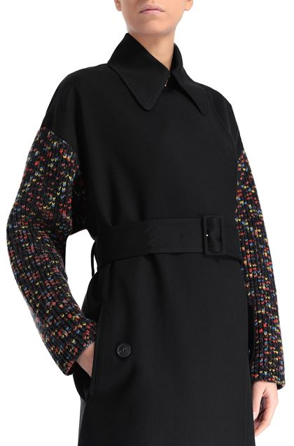 M MISSONI Trench coat Black Woman - Front