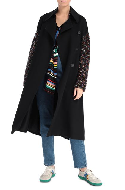 M MISSONI Trench coat Black Woman - Back