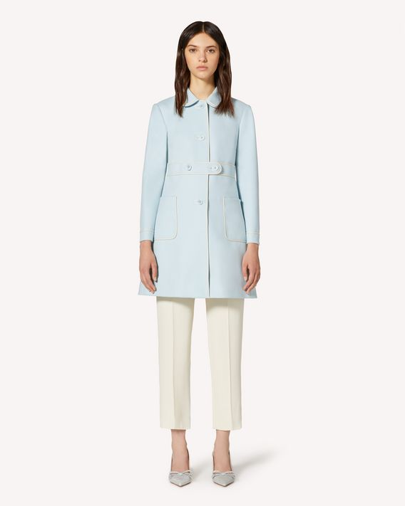REDValentino Wool coat with contrasting trim