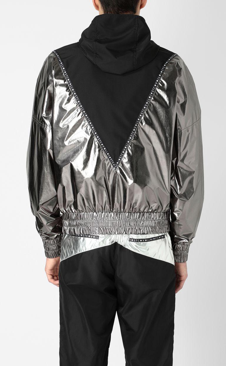 JUST CAVALLI Metallic-effect nylon jacket Jacket Man a