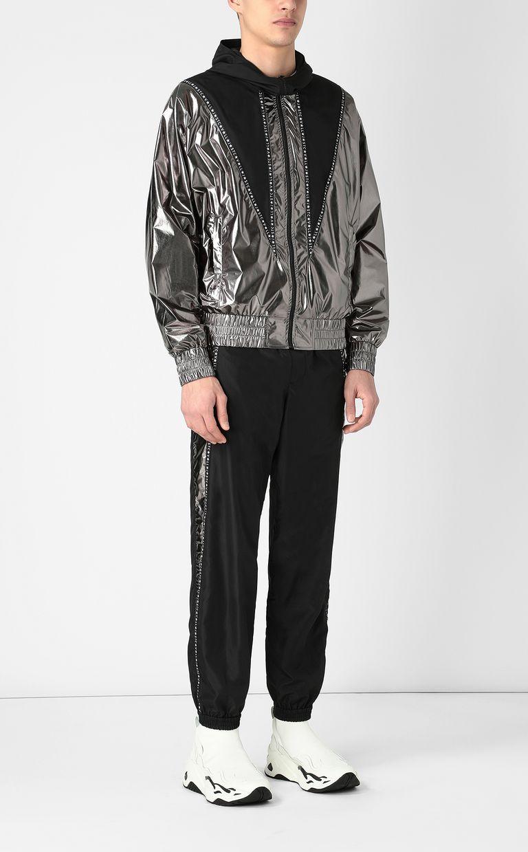 JUST CAVALLI Metallic-effect nylon jacket Jacket Man d
