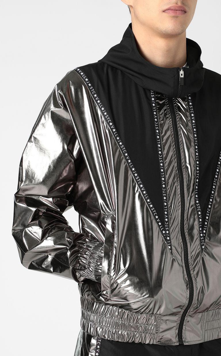 JUST CAVALLI Metallic-effect nylon jacket Jacket Man e