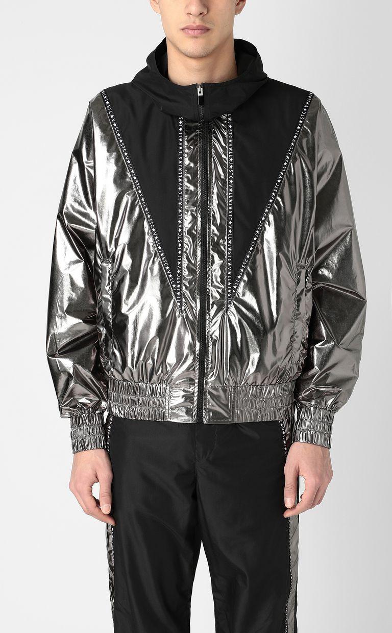 JUST CAVALLI Metallic-effect nylon jacket Jacket Man r
