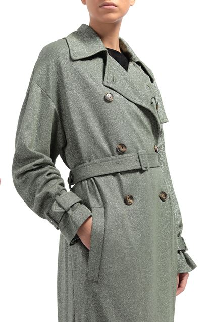 M MISSONI Trench coat Green Woman - Front