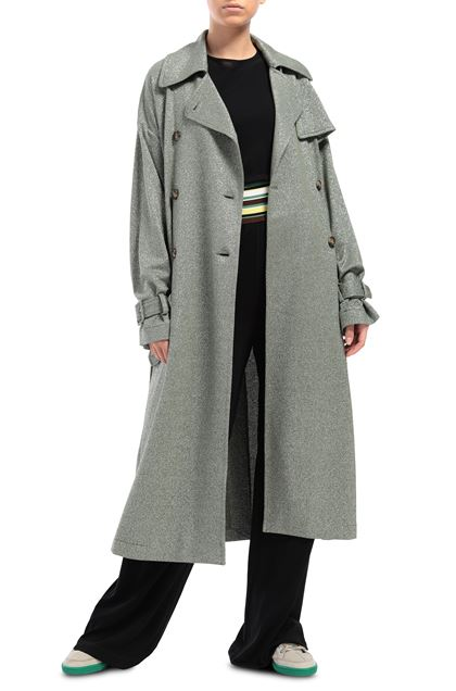 M MISSONI Trench coat Green Woman - Back