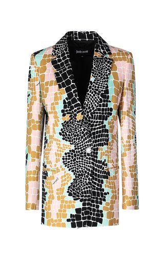 JUST CAVALLI Blazer Woman Suede-leather jacket f
