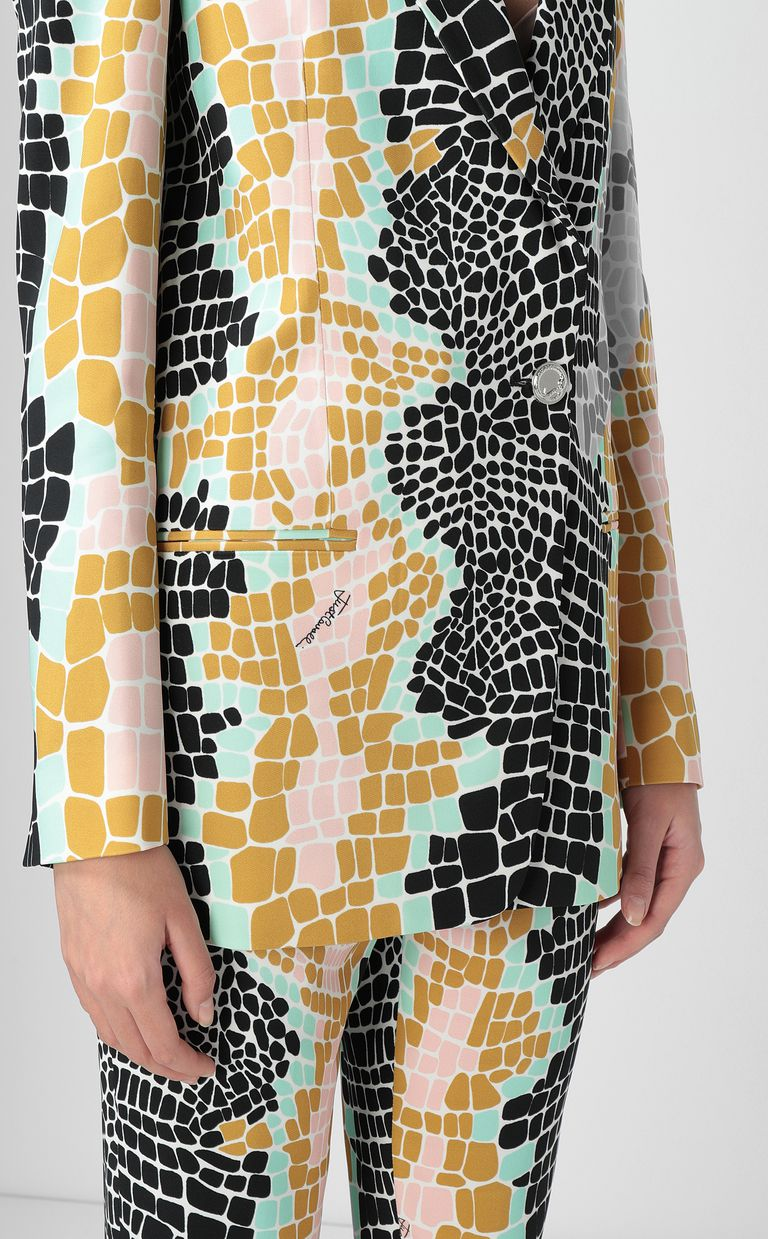 "JUST CAVALLI ""Pixel Crocco""-print jacket Blazer Woman e"