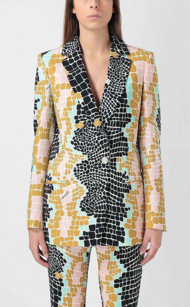 "JUST CAVALLI ""Pixel Crocco""-print jacket Blazer Woman r"