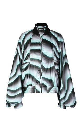 JUST CAVALLI Jacket Woman Python-print bomber jacket f