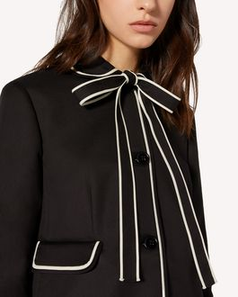 REDValentino Cotton cady jacket with contrast details