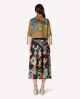 REDValentino Bird of Paradise in the Forest embroidered caban