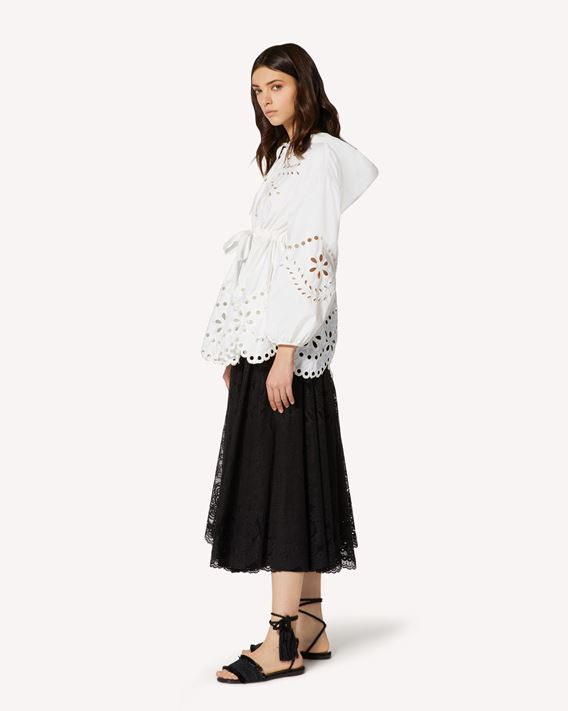 REDValentino Nylon canvas peacoat with St. Gallen embroidery