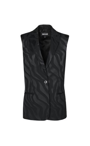 "JUST CAVALLI Blazer Woman Jacket with ""Genesis"" print f"