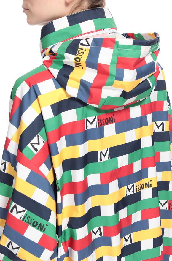 M MISSONI Jacket M x Save The Duck Woman, Rear view