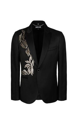 JUST CAVALLI Jacket Man Metallic-effect nylon jacket f
