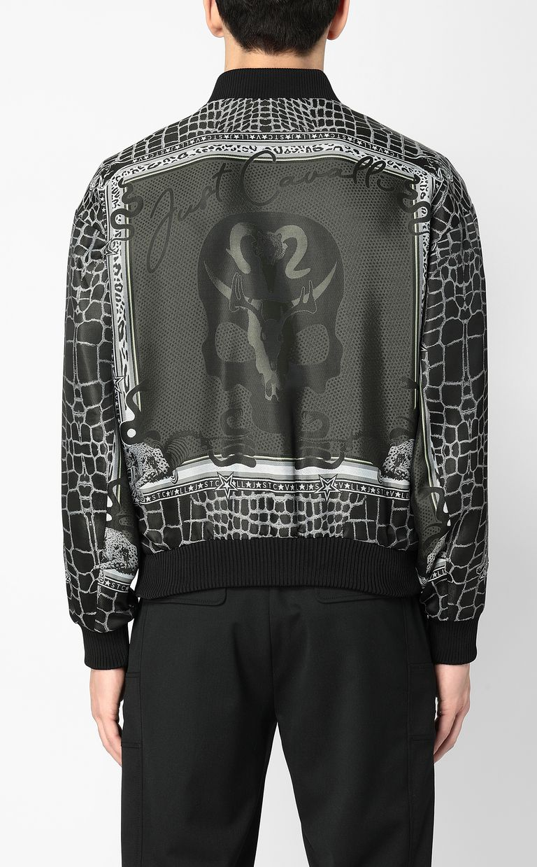 "JUST CAVALLI ""Engraved Crocco""-print bomber Jacket Man a"