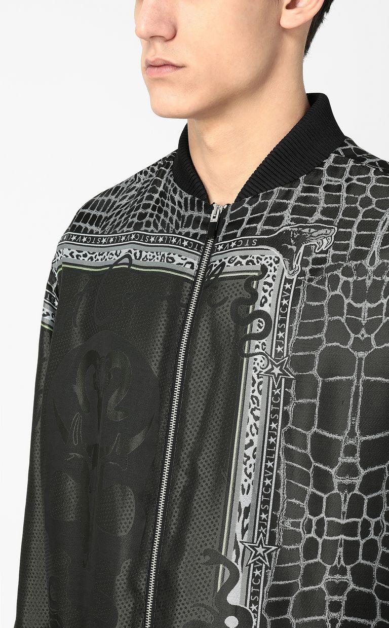"JUST CAVALLI ""Engraved Crocco""-print bomber Jacket Man e"