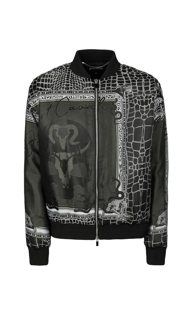 "JUST CAVALLI ""Engraved Crocco""-print bomber Jacket Man f"
