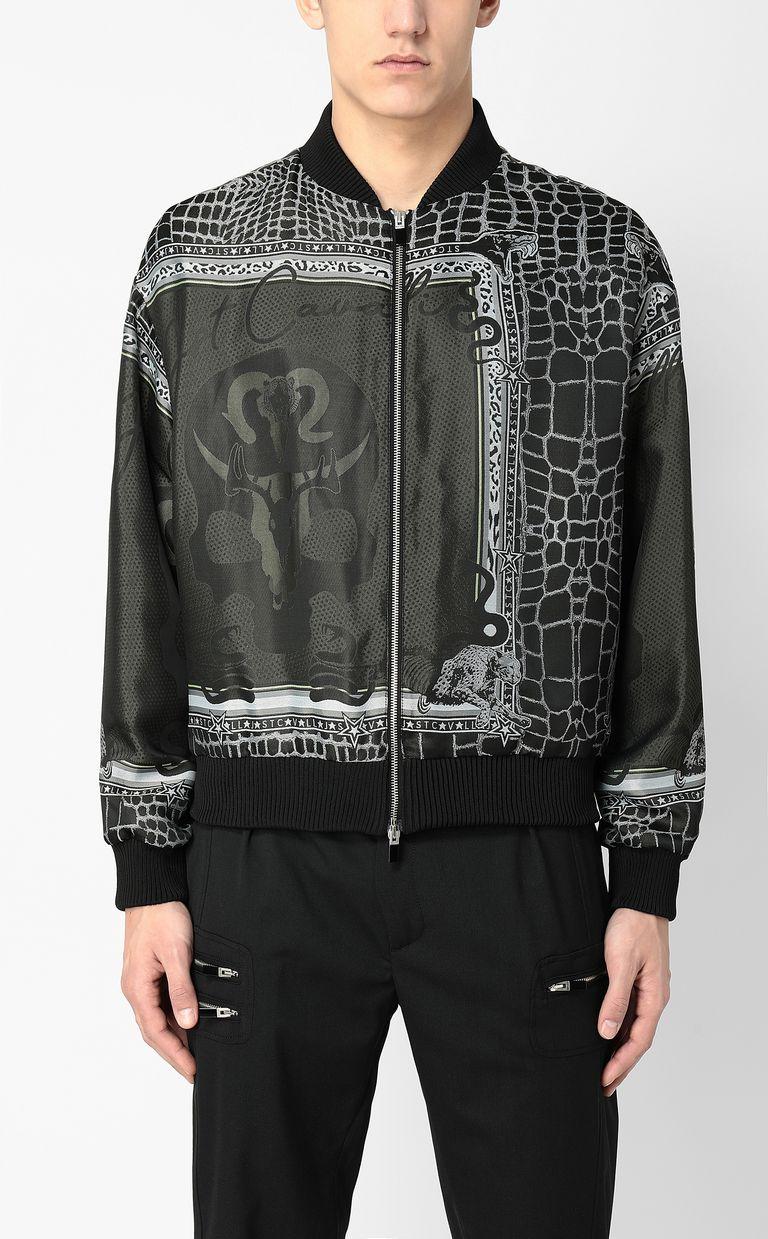 "JUST CAVALLI ""Engraved Crocco""-print bomber Jacket Man r"