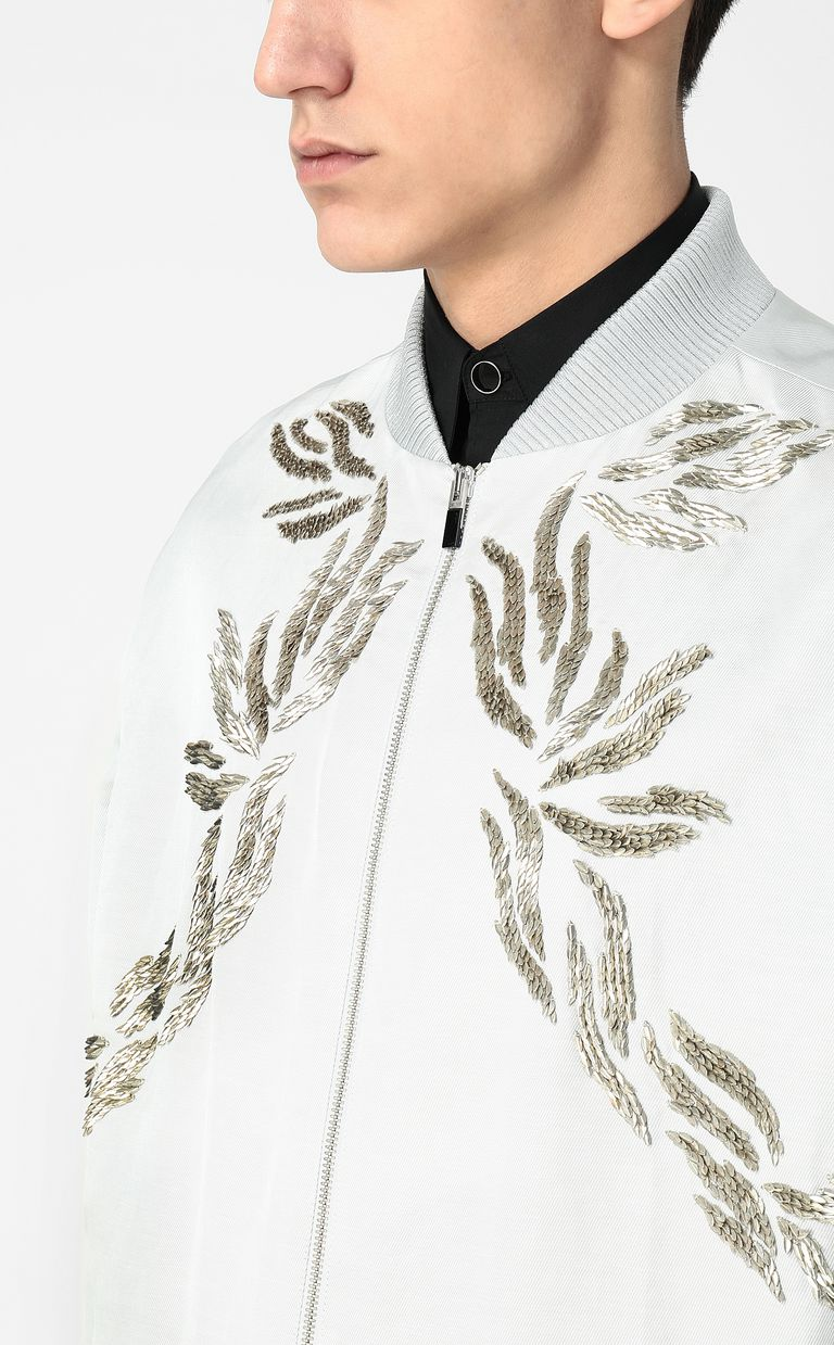 JUST CAVALLI Sequinned bomber jacket Jacket Man e