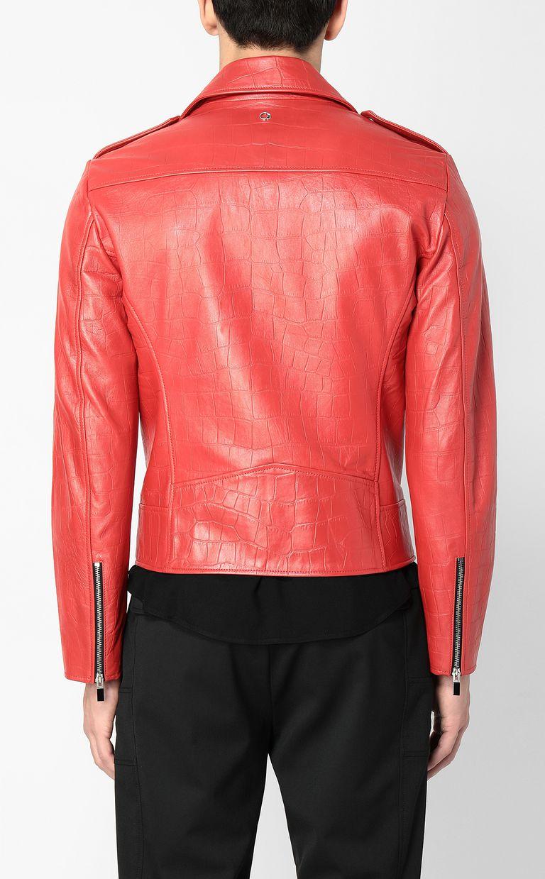 JUST CAVALLI Crocodile-effect biker jacket Leather Jacket Man a