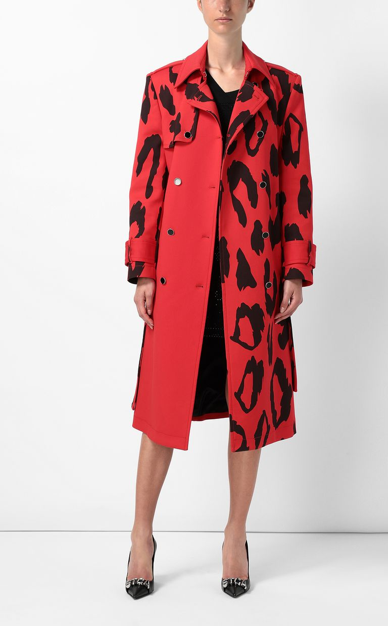 JUST CAVALLI Macro-Leo trench coat Raincoat Woman d