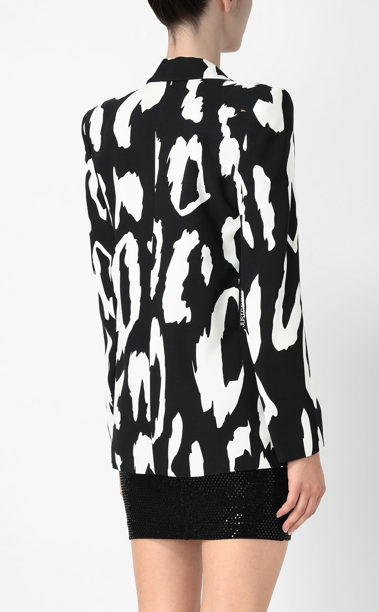 JUST CAVALLI Jacket with Macro-Leo print Blazer Woman a