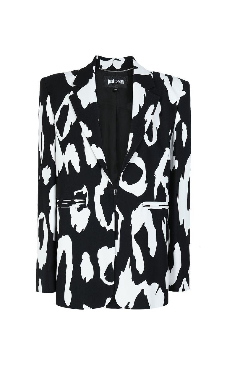 JUST CAVALLI Jacket with Macro-Leo print Blazer Woman f