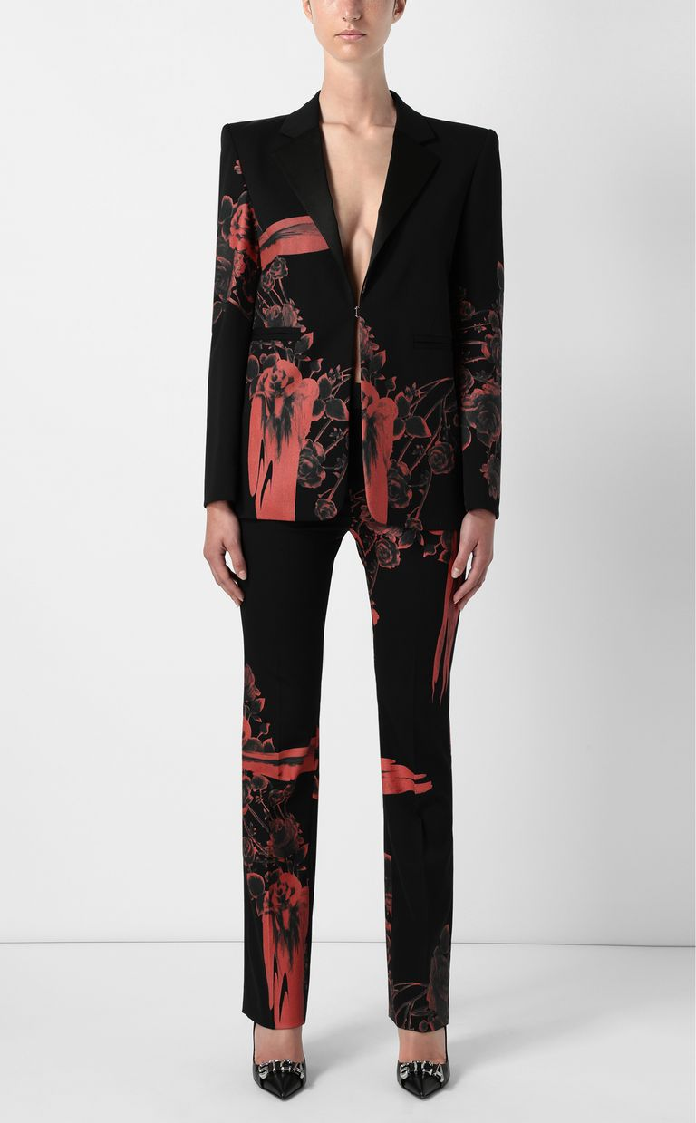 JUST CAVALLI Jacket with Moving Roses print Blazer Woman d