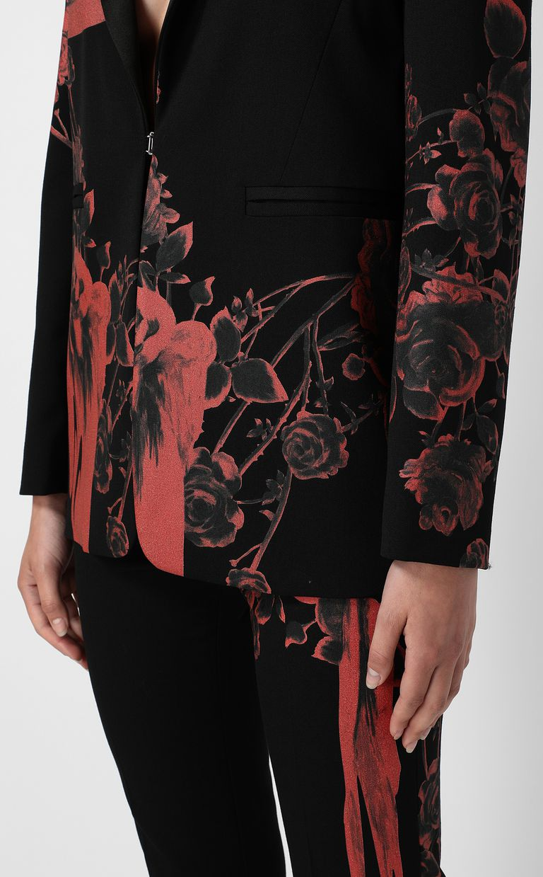 JUST CAVALLI Jacket with Moving Roses print Blazer Woman e