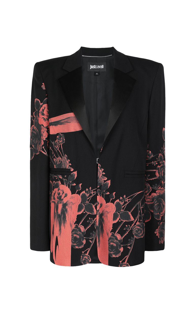 JUST CAVALLI Jacket with Moving Roses print Blazer Woman f