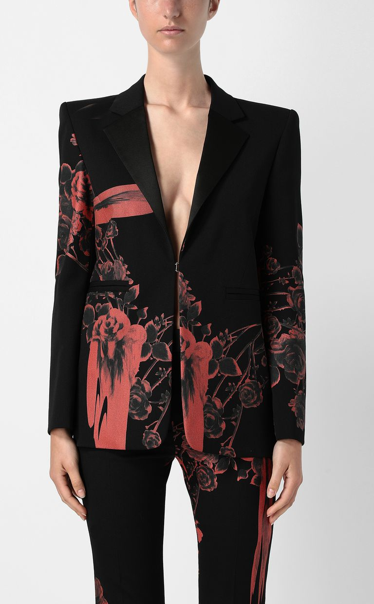 JUST CAVALLI Jacket with Moving Roses print Blazer Woman r
