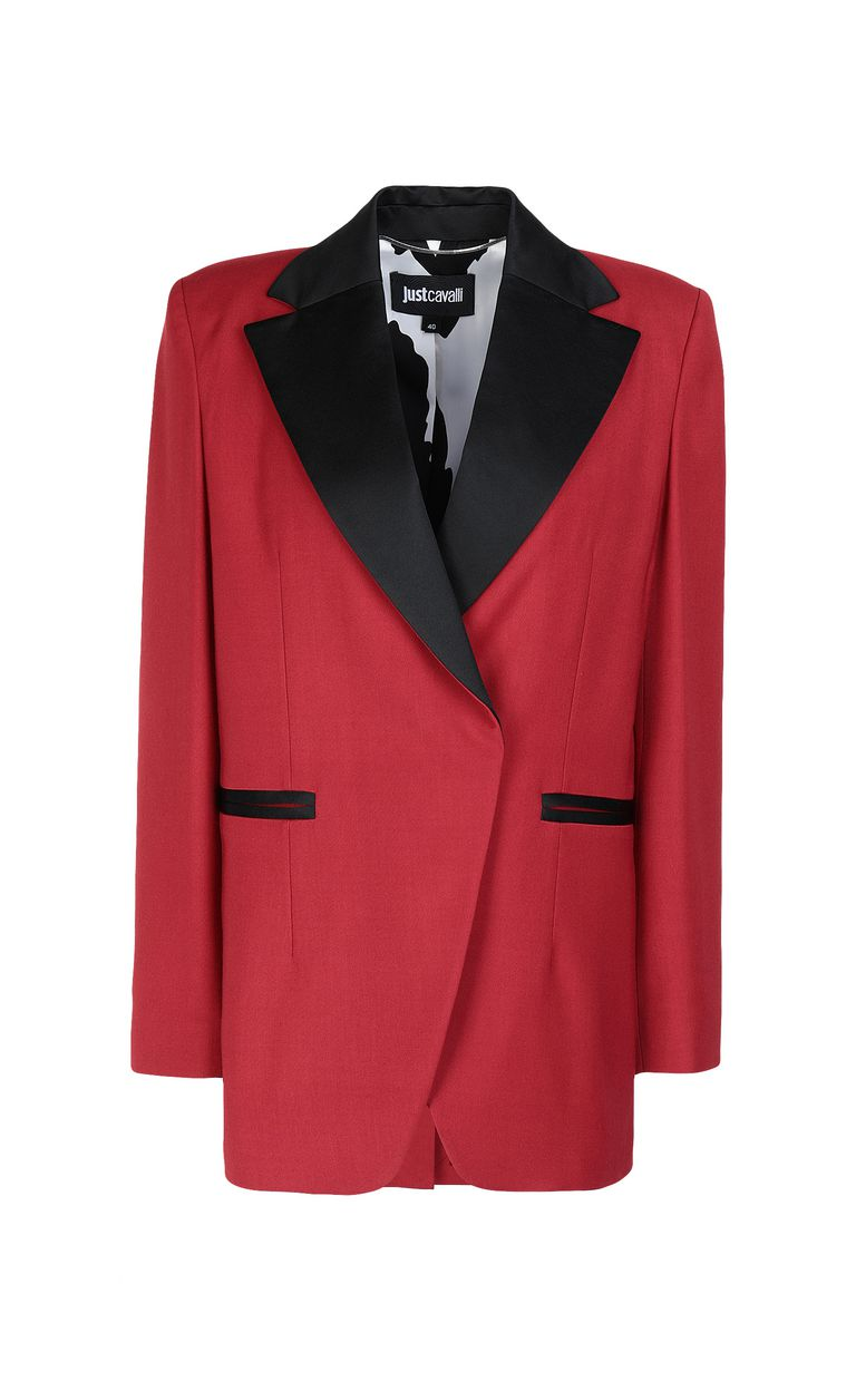 JUST CAVALLI Jacket with contrasting details Blazer Woman f