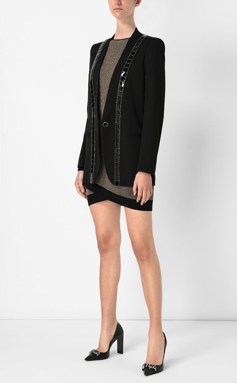 JUST CAVALLI Jacket with metallic detailing Blazer Woman d