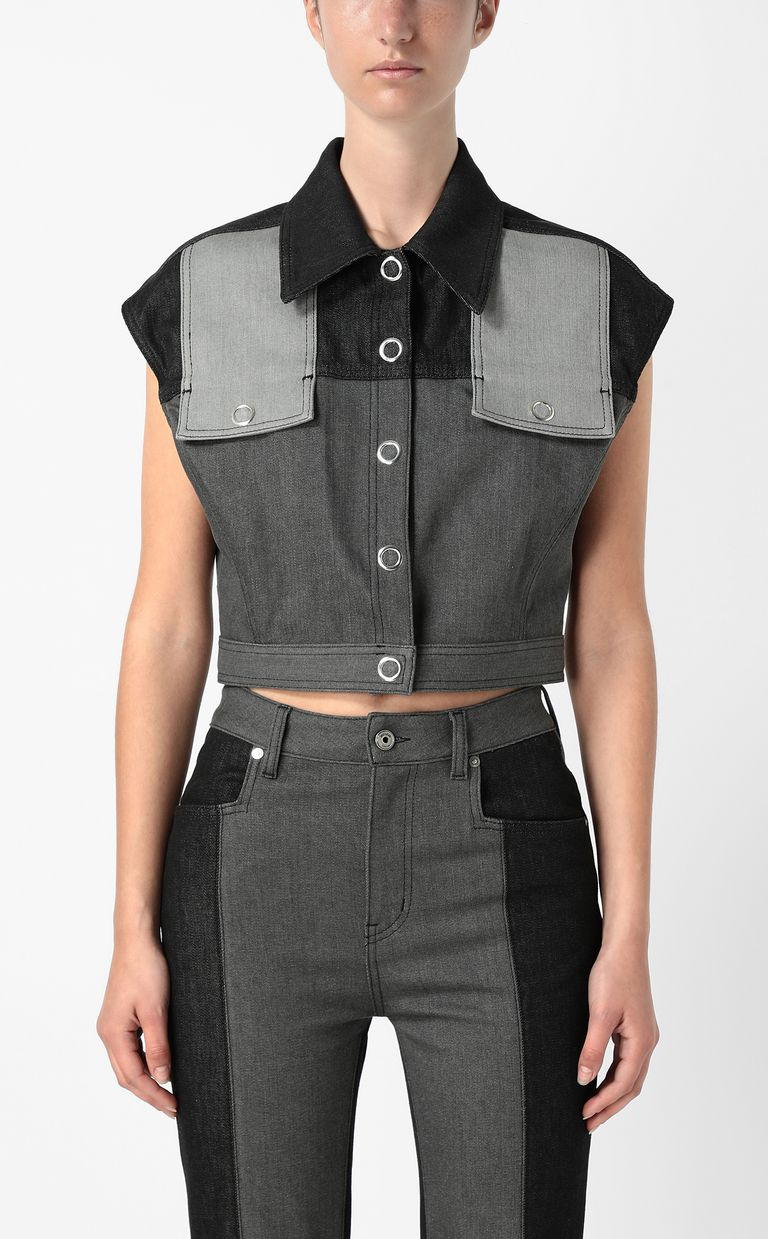 JUST CAVALLI Denim gilet Vest Woman r