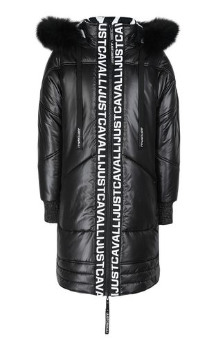 JUST CAVALLI Down jacket Woman Padded jacket with logo f