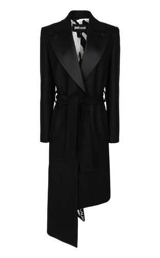 JUST CAVALLI Raincoat Woman Macro-Leo trench coat f