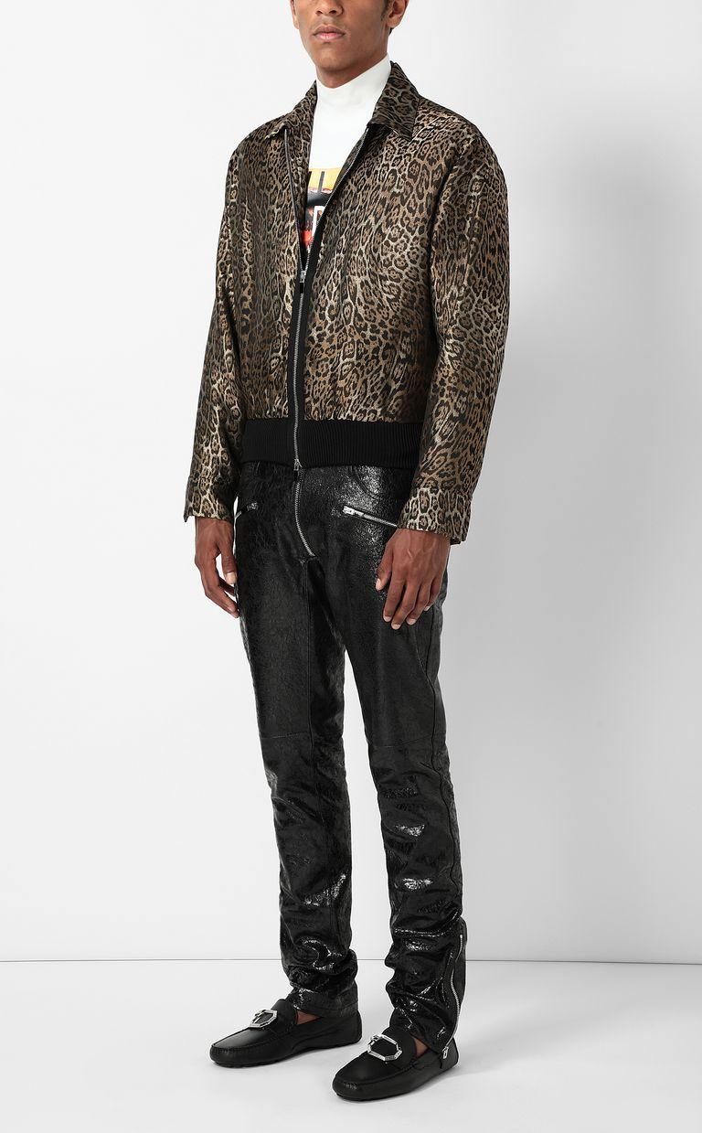 JUST CAVALLI Leopard-spot-print sporty jacket Jacket Man d