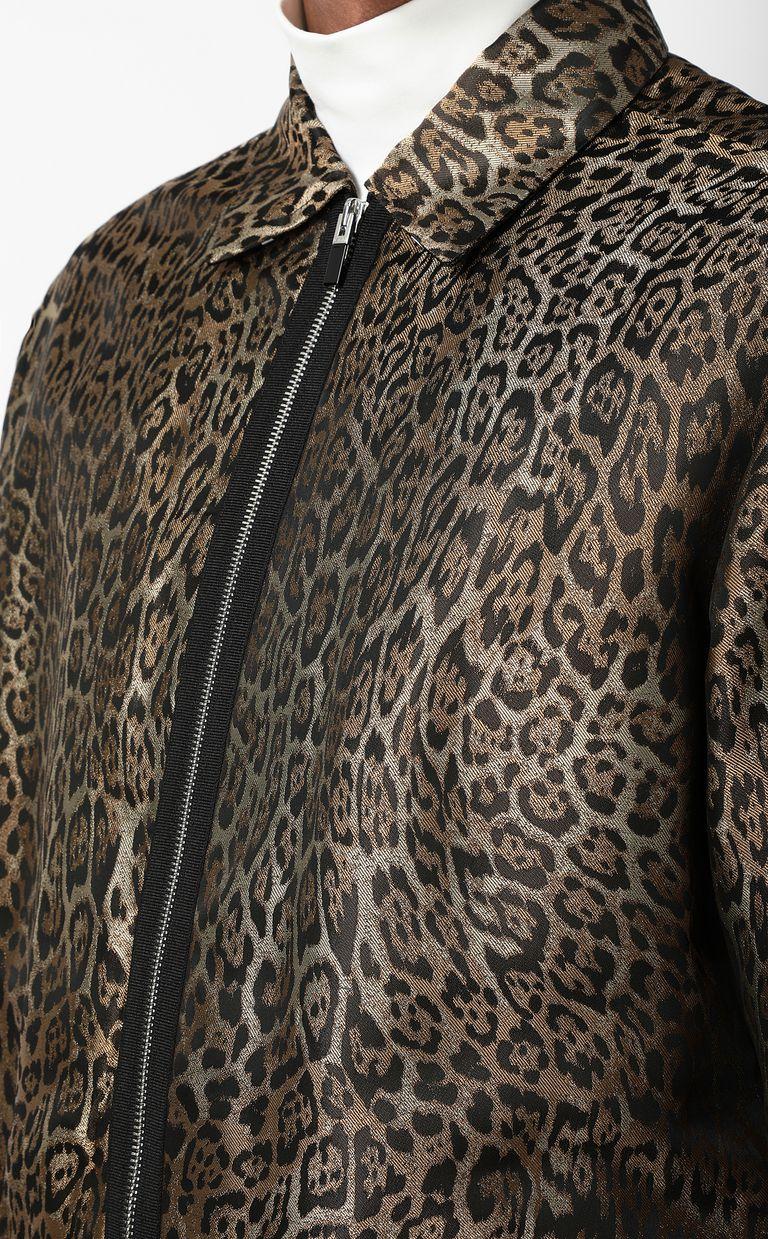 JUST CAVALLI Leopard-spot-print sporty jacket Jacket Man e