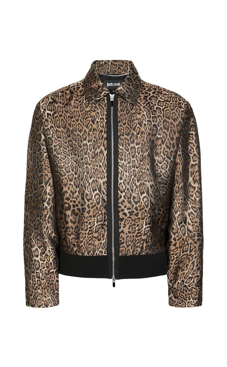 JUST CAVALLI Leopard-spot-print sporty jacket Jacket Man f