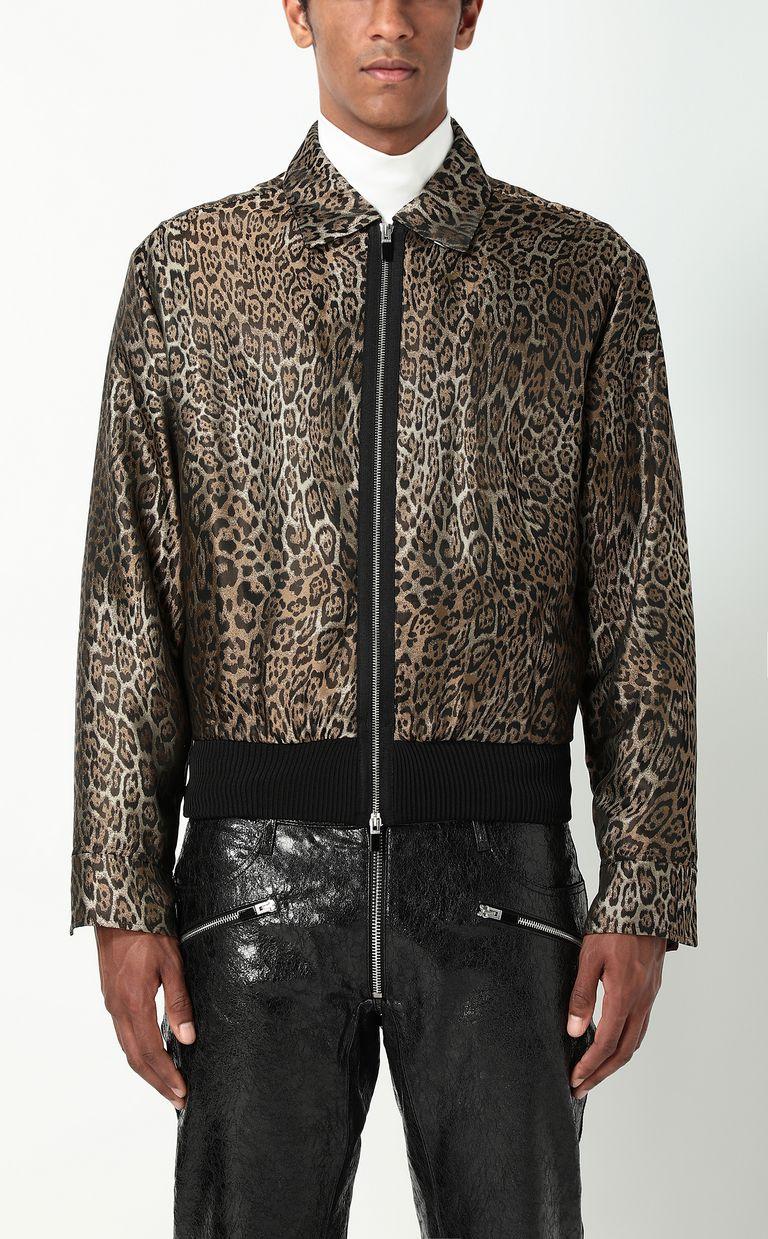 JUST CAVALLI Leopard-spot-print sporty jacket Jacket Man r