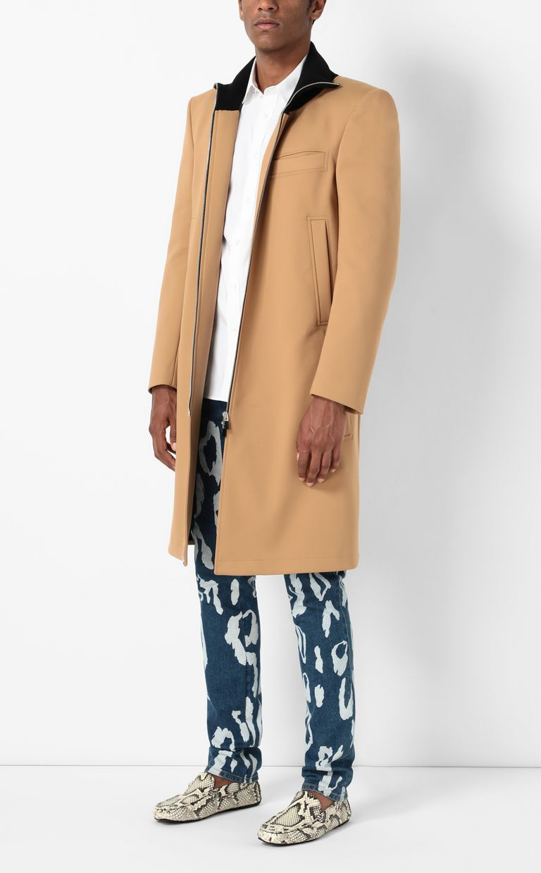 JUST CAVALLI Coat with logoed band Coat Man d